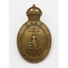South Africa Cape Defence Rifle Association Cap Badge - King's Crown
