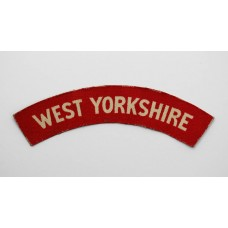 West Yorkshire Regiment (WEST YORKSHIRE) WW2 Printed Shoulder Title