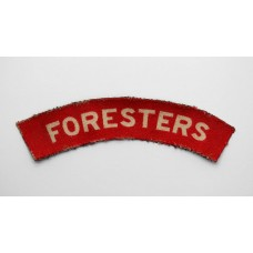 Notts & Derby Regiment (FORESTERS) WW2 Printed Shoulder Title