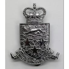 Royal Cayman Islands Police Cap Badge - Queen's Crown