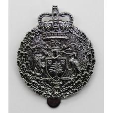 Royal Barbados Police Cap Badge - Queen's Crown