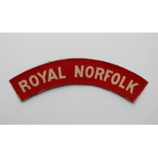 Royal Norfolk Regiment (ROYAL NORFOLK) WW2 Printed Shoulder Title
