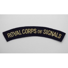 Royal Signals (ROYAL CORPS OF SIGNALS) Cloth Shoulder Title