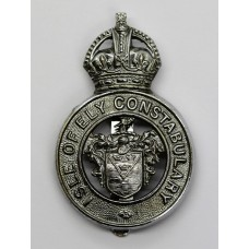 Isle of Ely Constabulary Cap Badge - King's Crown