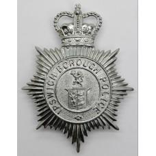 Ipswich Borough Police Helmet Plate -Queen's Crown