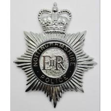 Nottinghamshire Police Enamelled Helmet Plate - Queen's Crown