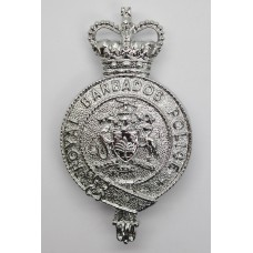 Royal Barbados Police Helmet Plate - Queen's Crown