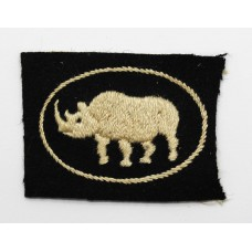 25th Armoured Brigade Cloth Formation Sign