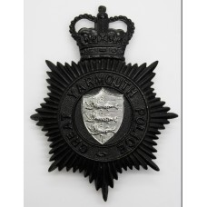Great Yarmouth Police NIght Helmet Plate - Queen's Crown