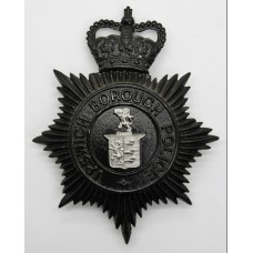 Ipswich Borough Police Night Helmet Plate - Queen's Crown