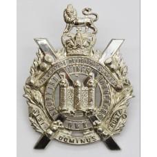 King's Own Scottish Borderers (K.O.S.B.) Officer's Silver Cap Bad