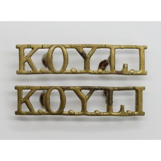Pair of King's Own Yorkshire Light Infantry (K.O.Y.L.I.) Shoulder