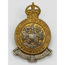 City of London Yeomanry (Rough Riders) Officer's Cap Badge - King