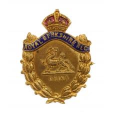 Royal Berkshire Regiment Brass & Enamel Sweetheart Brooch