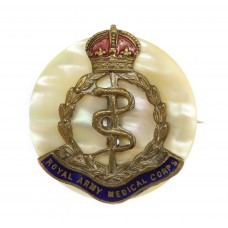 Royal Army Medical Corps (R.A.M.C.) Sweetheart Brooch - King's Cr
