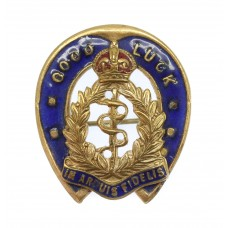 Royal Army Medical Corps (R.A.M.C.) Good Luck Horseshoe Sweethear