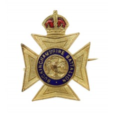 Buckinghamshire Battalion Enamelled Sweetheart Brooch - King's Crown
