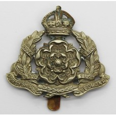 Derbyshire Yeomanry Cap Badge - King's Crown (White Metal)