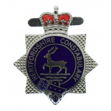 Hertfordshire Constabulary Enamelled Warrant Card Badge