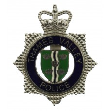 Thames Valley Police Enamelled Cap Badge - Queen's Crown