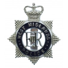 West Midlands Police Enamelled Cap Badge - Queen's Crown