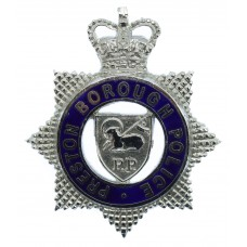 Preston Borough Police Senior Officer's Enamelled Cap Badge - Queen's Crown