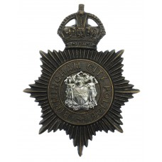 Birmingham City Police Night Helmet Plate - King's Crown