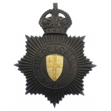 City of London Police Black Star Helmet Plate - King's Crown
