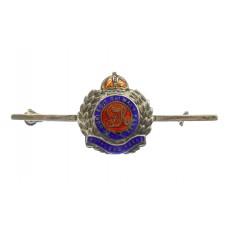 George VI Royal Engineers Sterling Silver & Enamel Sweetheart