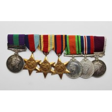General Service Medal (Clasp - Palestine), WW2 and Long Service & Good Conduct Medal Group of Seven - W.O.Cl.2 F. Smith, West Yorkshire Regiment