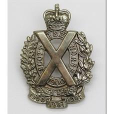 Scottish Horse Yeomanry Cap Badge (White Metal)