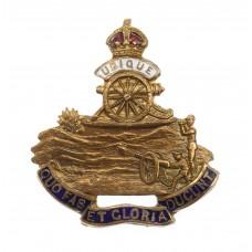 WWI Royal Artillery Brass & Enamel Sweetheart Brooch