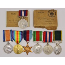 WW1 British War & Victory Medal, WW2 and Territorial Efficiency Medal Group - Pte. L. Allen, 12th ( Sheffield City Pals) Bn. York & Lancaster Regiment & Royal Army Ordnance Corps