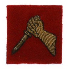 19th Indian Division Cloth Bullion Formation Sign