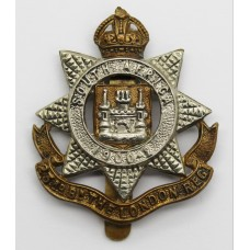 23rd Battalion London Regiment Cap Badge - King's Crown