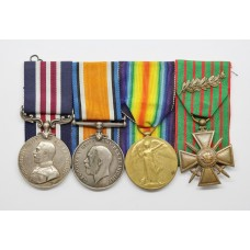 WW1 Military Medal, British War Medal, Victory Medal & French Croix de Guerre - Sjt. C.W. Cook, 131st Heavy Bty. Royal Garrison Artillery