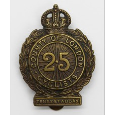 25th County of London (Cyclists) Battalion London Regiment Cap Ba