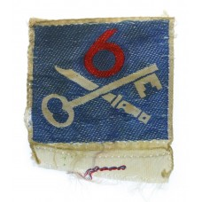 6th Infantry Brigade Silk Embroidered Formation Sign