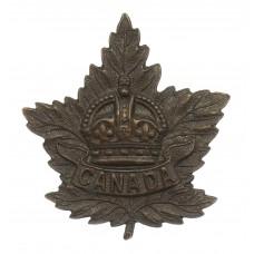 Canadian WW2 Canada General Overseas Service Bronze Cap Badge