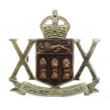 Canadian 20th Saskatchewan Dragoons (Armoured) Cap Badge - King's