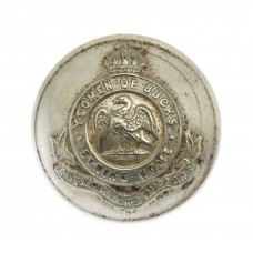 Royal Buckinghamshire Hussars Officer's Button - King's Crown (Large)