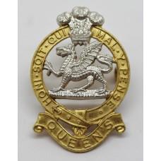 Queen's Regiment Officer's Cap Badge