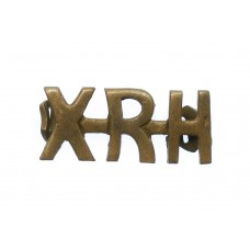 10th Royal Hussars (XRH) Shoulder Title