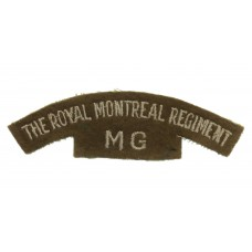 Royal Montreal Regiment Machine Gun (THE ROYAL MONTREAL REGIMENT/MG) Cloth Shoulder Title