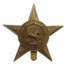 Federated Malay States Railway Police Cap Badge