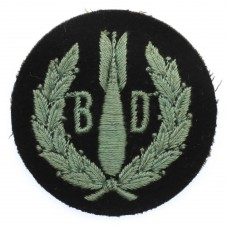 Royal Air Force (R.A.F.) Bomb Disposal Cloth Arm Badge