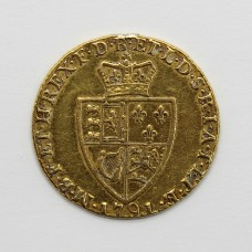 1791 George III 22ct Gold Guinea Coin