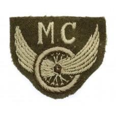 British Army Motor Cyclists (M.C.) Winged Wheel Cloth Proficiency Arm Badge