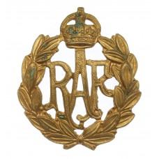 Royal Air Force (R.A.F.) Cap Badge - King's Crown