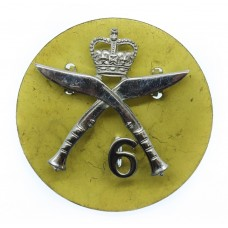 6th Gurkha Rifles Chrome Cap Badge - Queen's Crown